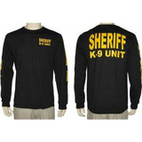 Sheriff K-9 Unit Long Sleeve Shirt with Sleeve Prints