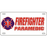 LICENSE PLATE - Firefighter/Paramedic