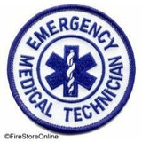 Patch - EMT (Small Circle White and Royal)