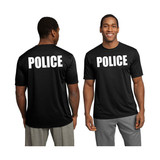 POLICE Wicking Performance T-Shirt (Black) **CLOSEOUT**