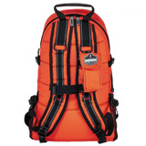 Orange Arsenal 5243 Deluxe Backpack Trauma Bag with Reflective Trim - Back View