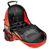 Orange Arsenal 5243 Deluxe Backpack Trauma Bag with Reflective Trim - Open View