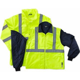 GloWear 4-in-1 All-Season Jacket (Class 3 ANSI) HI-VIZ LIME