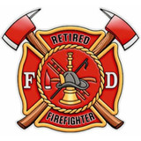 Decal - Retired Firefighter (Window Size)