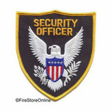 Patch - Security Officer Eagle Shield (Black with Gold Border)