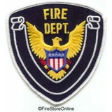 Patch - FIRE DEPT (Black with White Border)