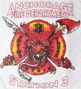 Anchorage Fire Department Station 3 Fleece Sweatshirt (Grey)