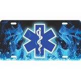 LICENSE PLATE - EMS STAR OF LIFE