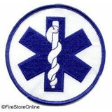 Patch - Star of Life Circle (White and Royal)