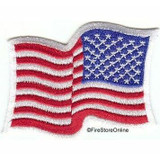American Flag Shoulder Patch (Reversed Wavy - White Border)