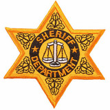 Patch - Sheriff Department Badge (Gold)