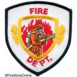 Patch - Fire Dept (Shield with Firefighter Holding Hose)