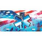 LICENSE PLATE - U.S.A. EMS