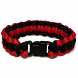 Paracord Survival Bracelet (Black and Red)