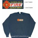 Fire Dept 2 Line Embroidered Sweatshirt