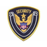 Patch - Security Shield (Midnight with Gold Border)