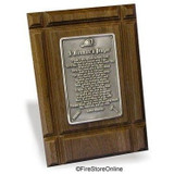 Fireman's Prayer Plaque (Solid Wood/Pewter)