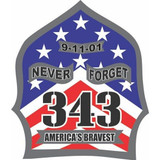 Decal - 343 Remembered (4 Inch)