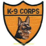 Patch - POLICE K9 UNIT (Black on Gold)