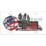 9-11-01 Memorial 10 Year License Plate (LP-901)