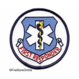 Patch - First Responder (Round with Navy Border)
