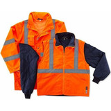 GloWear 4-in-1 All-Season Jacket (Class 3 ANSI) HI-VIZ ORANGE