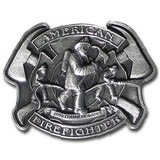Belt Buckle - American FireFighter 2009 Limited Edition (Solid Pewter)