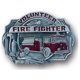 Volunteer Firefighter (Solid Pewter - Enameled)