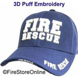 Fire Rescue PUFF HAT (3-D Embroidery - 4 locations)