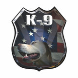 Decal - K-9 Flag Shield (4 Inch)