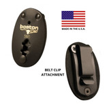 Boston Leather Oval Clip-On Badge Holder
