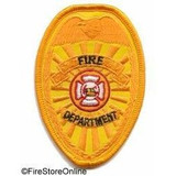 Patch - Fire Dept REFLECTIVE Badge (Gold)
