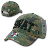 SWAT Digital Woodland Camo Military Law Enforcement Hat (3D Puff Embroidery - 4 locations)