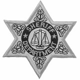 Patch - Sheriff Department Badge (Silver)