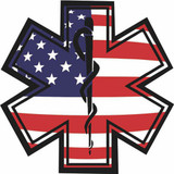 Decal - American Flag Star of Life (Window Size)