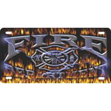 LICENSE PLATE - Fire Department Rage Design