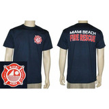 Miami Beach Fire Rescue Duty T-Shirt (NAVY)