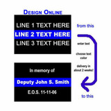 Thin BLUE LINE Decal - Square