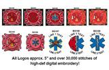 Custom Fire Dept Logo Duffel/Gym Bag w/EMBROIDERED LOGO (ROYAL BLUE)