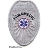Patch - Paramedic REFLECTIVE Badge (Silver)