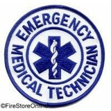 Patch - EMT (Circle White/Royal)