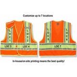 GloWear CUSTOM TITLE Public Safety Hi-Viz Traffic Vest (Orange/Lime)