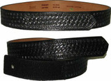 Boston Leather Trouser Belt Leather Basketweave with Velcro 2