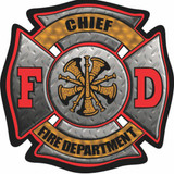 Decal - FD Maltese CHIEF (4 Inch)