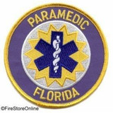 Patch - Florida Paramedic (with Gold Border)