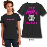 Disctrict Made #FIRELIFE Ladies Crewneck Perfect Blend T-Shirt