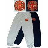 Fire Department Embroidered Sweatpants - Navy or Grey