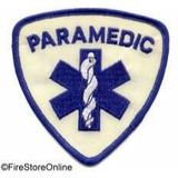 Patch - PARAMEDIC REFLECTIVE (Shield White/Royal)