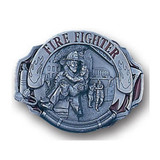 Belt Buckle - Firefighter (solid pewter - enamel)