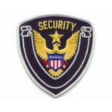 Patch - Security Shield (Midnight with White Border)